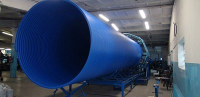 Spirally twisted hollow HDPE pipes SVT PND PE 100