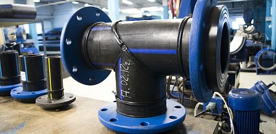 Pipeline fastening parts from HDPE