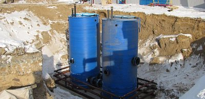 Automatic sewage pumping station of socket type KNS-POLYMER