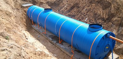 Underground wastewater treatment plant Crystall BIO-P