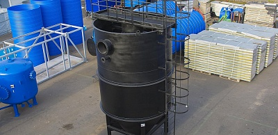 Vertical-flow sand catcher PV